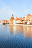 Old town embankment, Gdansk. Old town embankment and river Motlawa, Gdansk ,  Poland Stock Images
