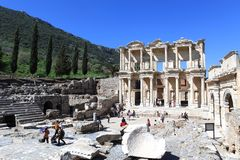 Old town in Ephesus stock image