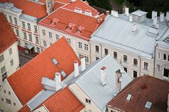 Old town Estonia and the buildings royalty free stock image