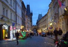 Old Town evening street Prague Stock Images