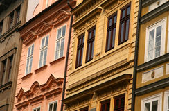 Old Town Facade. Facade of buildings of the old town in Prague Royalty Free Stock Photography