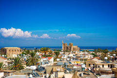 Old town of Famagusta (Gazimagusa), Cyprus. High elivated view Stock Photo