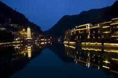 The old town of fenghuang hunan Royalty Free Stock Photos