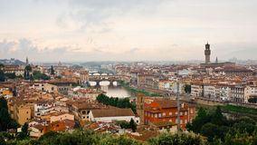 Old Town Florence. The old town of Florence in Italy. Arno River Stock Photos