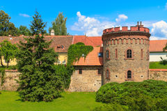 Old town fortification in Trebon, Czech Re Stock Photo