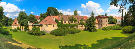 Old town fortification in Trebon, Czech Re Royalty Free Stock Image