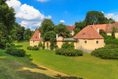 Old town fortification in Trebon, Czech Re Royalty Free Stock Photography