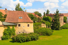 Old town fortification in Trebon, Czech Re Royalty Free Stock Images