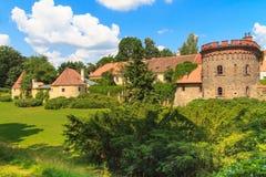 Old town fortification in Trebon, Czech Republic Stock Photos