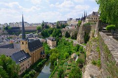 Old town and Fortifications in the City of Luxembourg Royalty Free Stock Photography