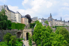 Old town and Fortifications in the City of Luxembourg Royalty Free Stock Images
