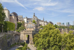 Old town and Fortifications of Luxembourg Royalty Free Stock Images
