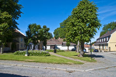 The old town in fredrikstad (square) Stock Photography