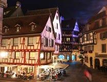 Colmar, France at night Royalty Free Stock Photos