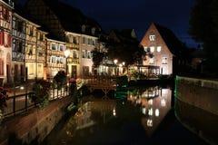 Colmar, France at night Royalty Free Stock Photo