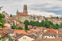 Old town of Fribourg, Switzerland Stock Photo