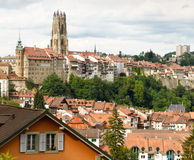 Old town of Fribourg, Switzerland Stock Image