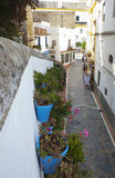 Old town full of flowerpots, Marbella Stock Image