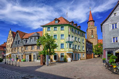 Old town of Furth, Bavaria, Germany. Historical city center of Furth town by Nuremberg, Bavaria, Germany Royalty Free Stock Images