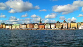 Old Town (Gamla Stan) in Stockholm, Sweden stock video footage