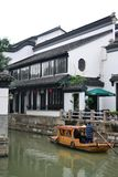 Old town and gardens of Suzhou, Zhejiang, China, Chinese water town stock photography