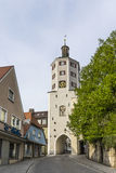 Old town gate and market place in Guensburg, Bavaria Stock Photography