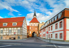 Old town gate in Stralsund, Northern Germany Royalty Free Stock Photography