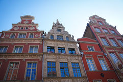 Old Town Gdanks architecture Stock Photos
