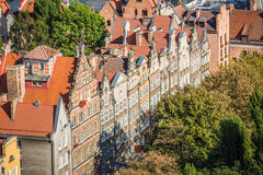Old Town in Gdansk, aerial view from cathedral tower, Poland Stock Photography
