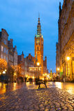 Old town of Gdansk architecture Stock Photo