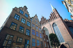 Old Town in Gdansk. Church Saint Mary of Gdansk in Poland Royalty Free Stock Photos