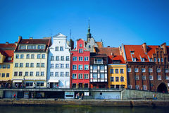 Old town of Gdansk city, Poland. Colorful European houses in harbor at Motlawa river, Gdansk, Poland Stock Image