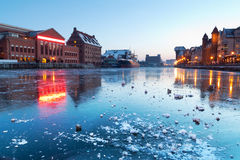 Old town in Gdansk at dusk Royalty Free Stock Photography