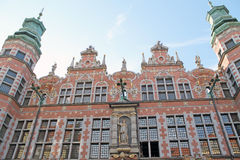 Old Town of Gdansk. Gothic tenement houses in old town Gdansk Stock Photo