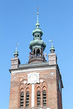 Old Town of Gdansk. Gothic tenement houses in old town Gdansk Royalty Free Stock Images