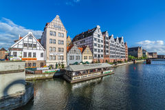 Old town of Gdansk at Motlawa river  in Gdansk Royalty Free Stock Image