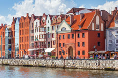 Old town of Gdansk at Motlawa river  in Gdansk Royalty Free Stock Photo