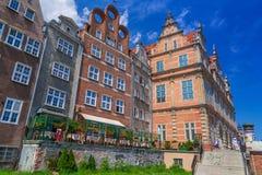 Old town of Gdansk at Motlawa river in Gdansk Stock Image