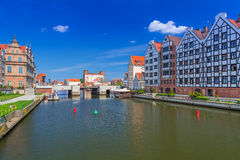 Old town of Gdansk at Motlawa river in Gdansk Stock Photo
