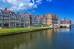Old town of Gdansk at Motlawa river in Gdansk Royalty Free Stock Photography