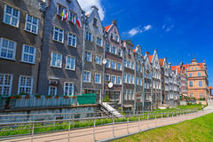 Old town of Gdansk at Motlawa river in Gdansk Stock Image