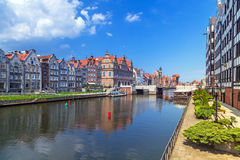 Old town of Gdansk at Motlawa river in Gdansk Stock Photos