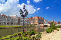 Old town of Gdansk at Motlawa river in Gdansk Royalty Free Stock Images