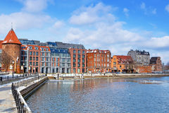 Old town of Gdansk at Motlawa river Stock Photos