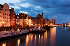 Old town of Gdansk at Motlawa river Royalty Free Stock Images
