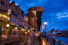 Old town of Gdansk at Motlawa river Stock Photo