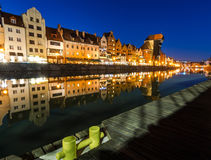 The old town of Gdansk at Motlawa river, Poland Royalty Free Stock Photos