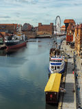 Old town of Gdansk at Motlawa river, Poland Stock Photos