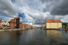 Old town of Gdansk at Motlawa river, Poland Royalty Free Stock Photography
