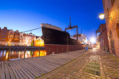 Old town in Gdansk at night Royalty Free Stock Photos